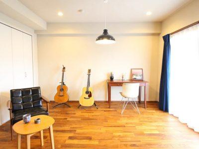 「湘南リフォーム」のマンションリノベーション事例「自然素材に囲まれて、心地よく趣味を楽しむ家。」