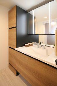 リノステージ、リノベーション、ARISE、洗面台、洗面スペース、水回り