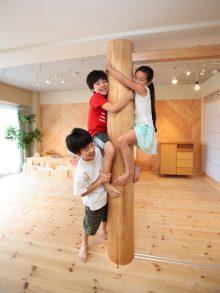 大黒柱、自然素材、木材、柱梁、マンション、リノベーション、水工房