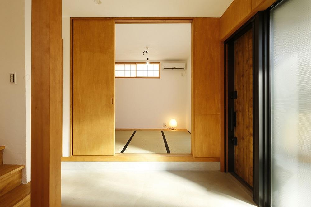 和室、小上がり、クロス、天井、寝室、パイン材、無垢、戸建、リノベーション
