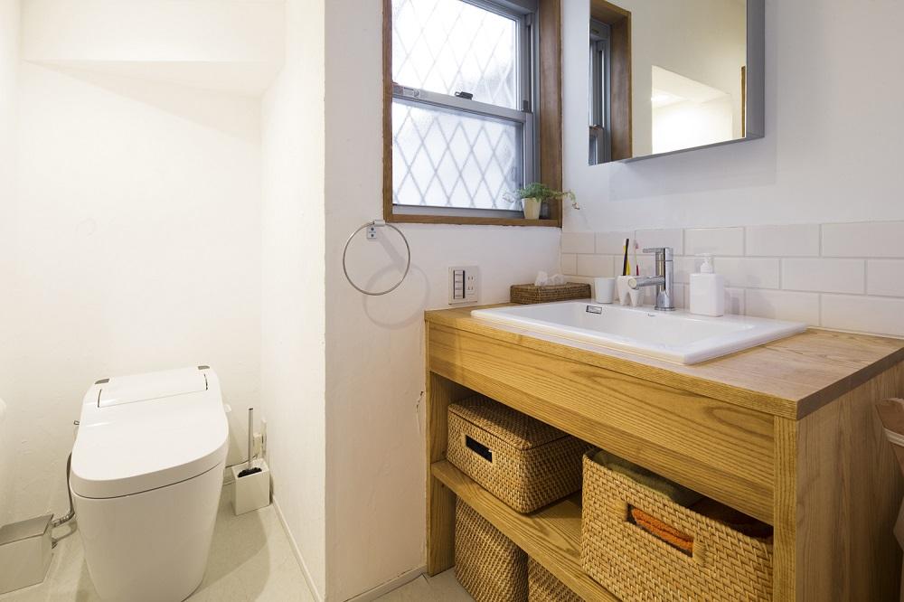 リノベーション、スタイル工房、自然素材、戸建リノベーション、サニタリースペース、タンクレストイレ、オープン収納