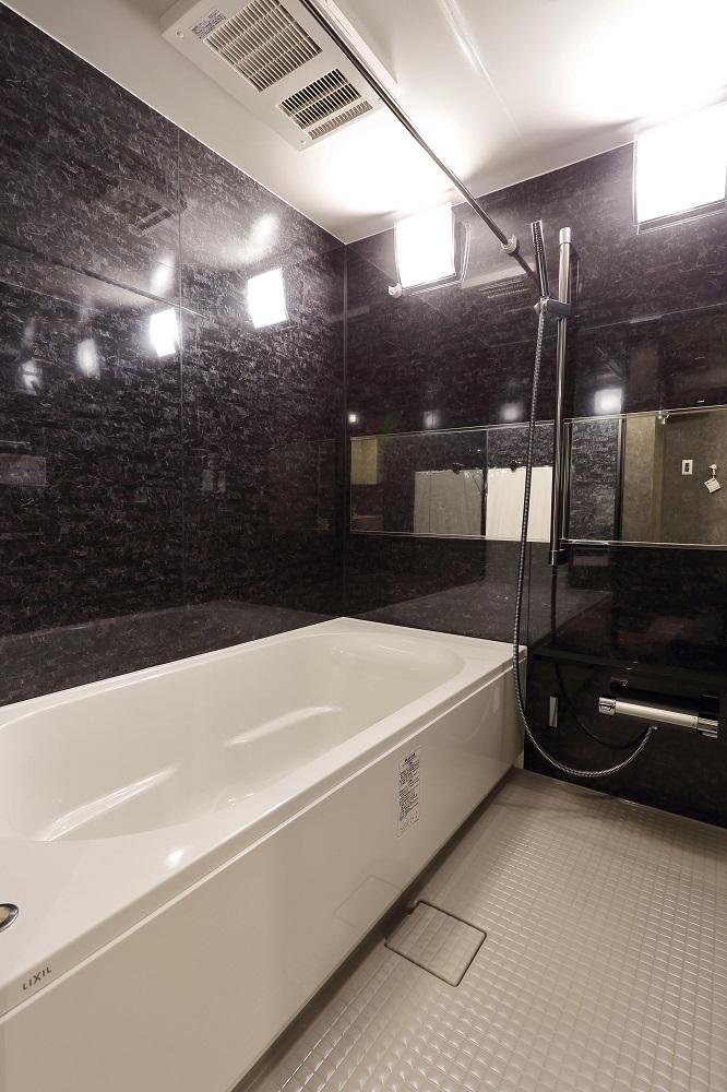 ユニットバス、浴室、パネル、高級感、1616、バスルーム、マンションリノベーション、Three Eight