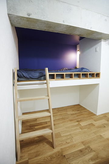 Renomama、リノまま、リノベーション、寝室、ロフト、自然素材、西海岸風、東京テアトル