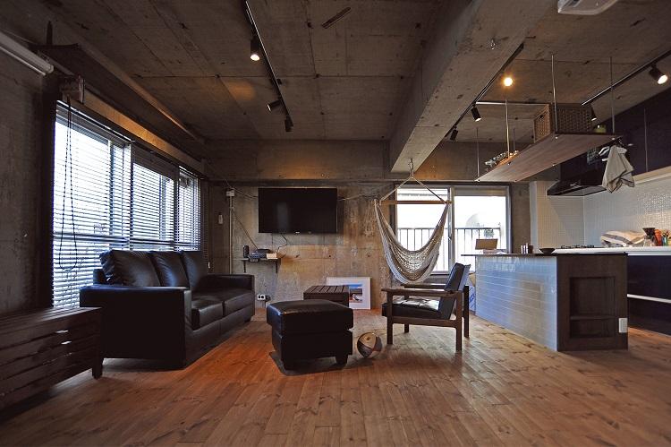 インダストリアルなブルックリンのSTUDIOをイメージしたワンルームリノベーション