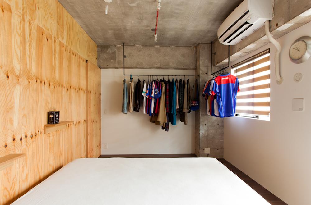 EcoDeco、リノベーション、寝室、ベッドルーム、見せる収納、テーマカラー、