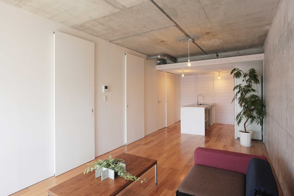 Tsudou Design Studio(ツドウデザインスタジオ)、団地リノベ、リノベーション、リビング、造作家具
