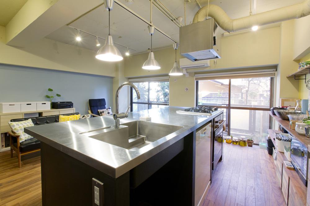 リノベーション、インテリックス空間設計、DIY、造作キッチン