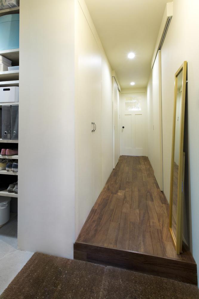 リノベーション、インテリックス空間設計、DIY、土間、玄関収納、シューズクローク