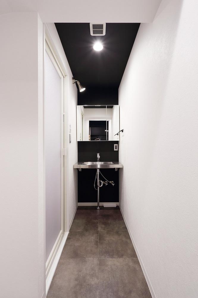 リノベ不動産、Three Eight、リノベーション、snowpeak、アウトドア、洗面台、洗面スペース、水まわり