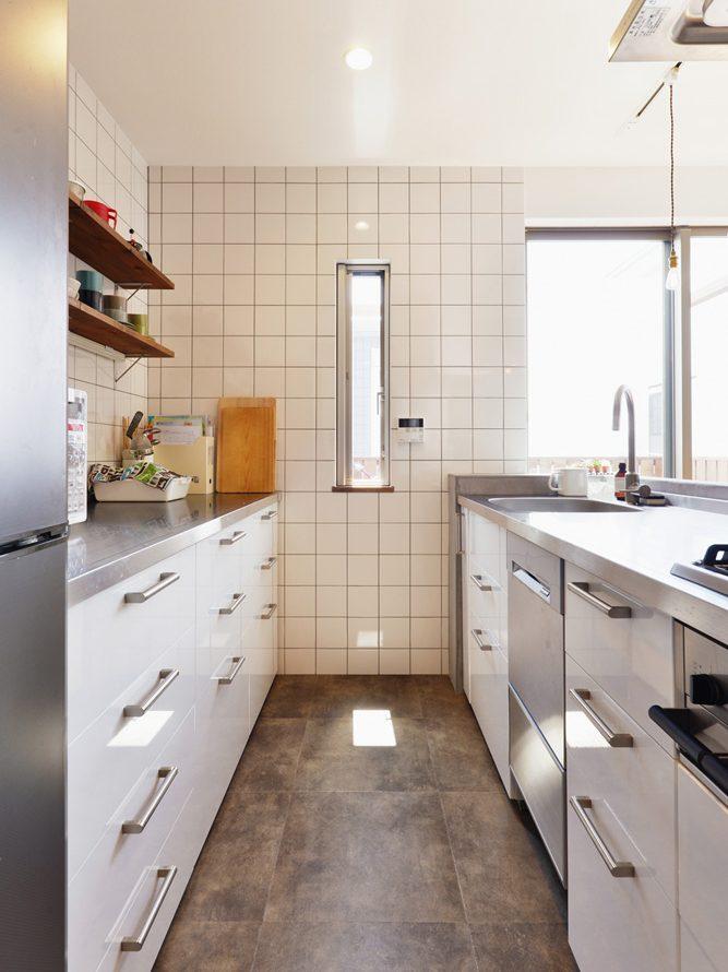 柱、撤去、対面、キッチン、小窓、リノベーション、スタイル工房