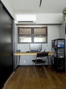 リノベ―ション、グラデン、モールディング、室内窓、ワークスペース、SOHO、仕事部屋、