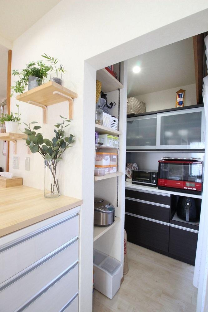 湘南リフォーム キッチン オリジナル家具 パントリー