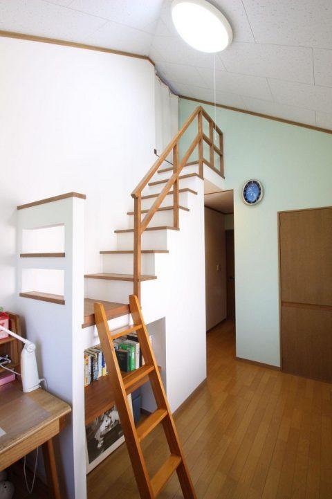 湘南リフォーム 子供部屋 ロフト 階段