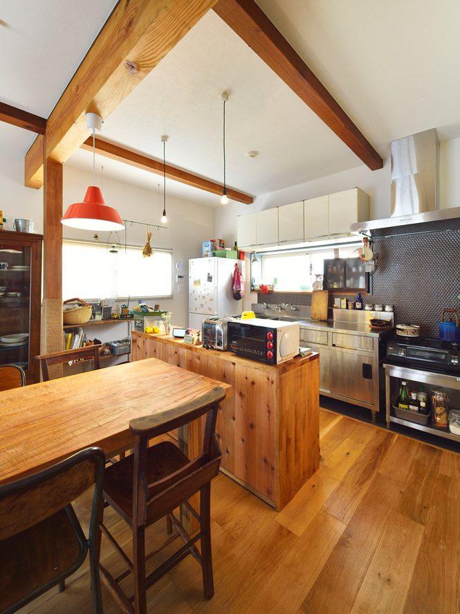 LD、キッチン、カウンター収納、施主提供、戸建て、リノベーション