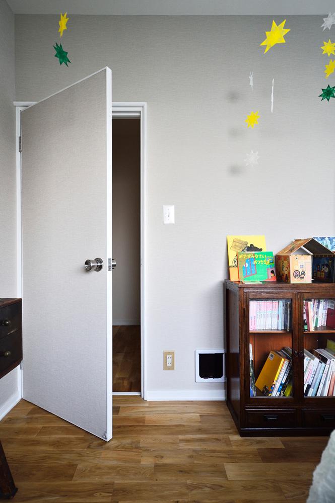 猫、ペット、出入り口、戸建て、リノベーション