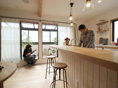 「住工房株式会社」のリノベーション事例「実家の2階を素敵にリノベーション!インナーテラスとホームシアターで趣味を満喫する家」