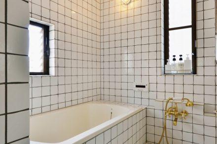 夢考房、リノベーション、戸建リノベ、大人リノベ、在来工法、浴室、お風呂、タイル壁、ホテル