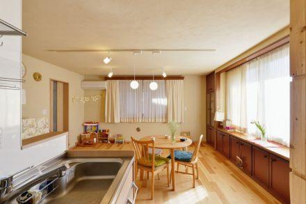 リノベーション、夢工房、自然素材、キッチン、ウッドテイスト