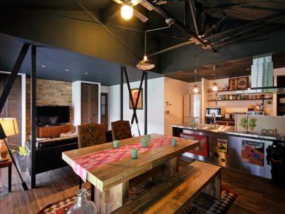 「LOHAS studio」の戸建リノベーション事例「アメリカンヴィンテージの美しい空間。スケルトンからの戸建てリノベーション!」