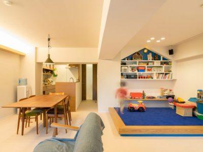 「株式会社エキップ」のリノベーション事例「小上がりのキッズスペースが愛らしい!子どもがのびのび遊べる家」