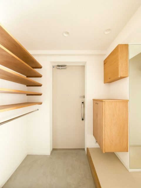 リノベーション、エキップ、子育て、玄関、玄関収納、フロートタイプ、オープン収納