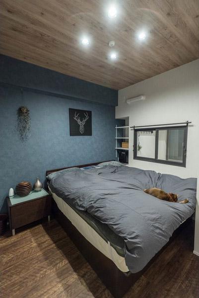 ハウズライフ、howzlife、マンション、リノベーション、寝室、室内窓