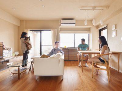 「株式会社 夢工房」のマンションリノベーション事例「家族で過ごす時間を大切に考えて 心地よく風が通る家」