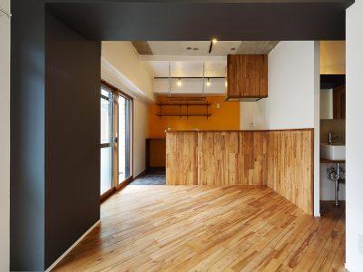 「リノベ不動産|Three Eight」のマンションリノベーション事例「メリハリある日常を投影した、気持ちよく過ごせる家」