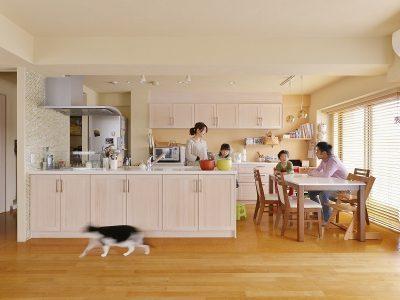 「株式会社 夢工房」のマンションリノベーション事例「子育てを楽しむ、リノベーションでオープンスタイルの家づくり」