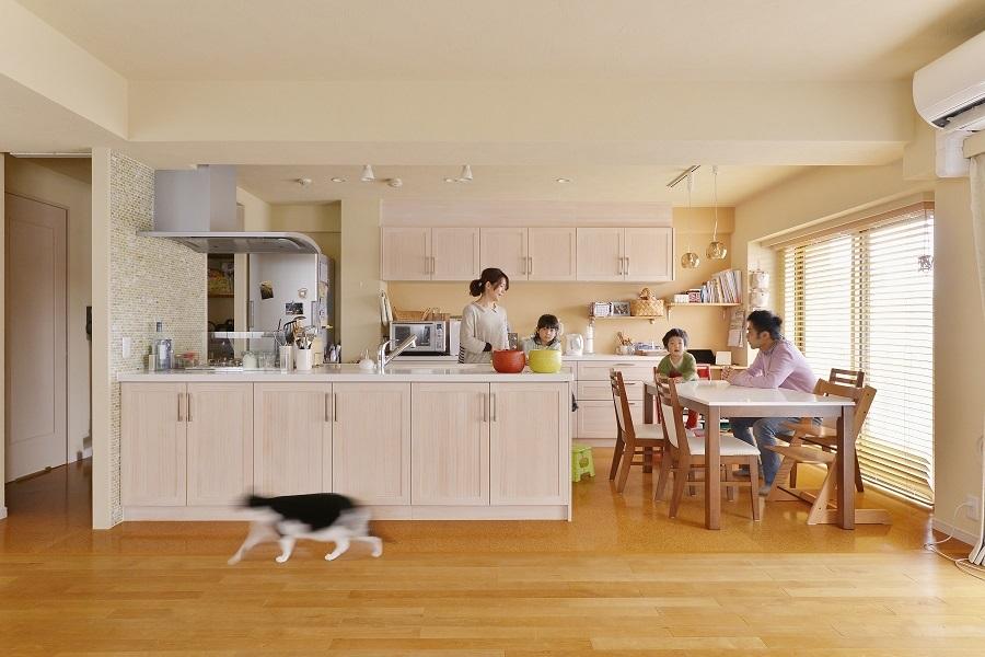 「株式会社 夢工房」のリノベーション事例「子育てを楽しむ、リノベーションでオープンスタイルの家づくり」
