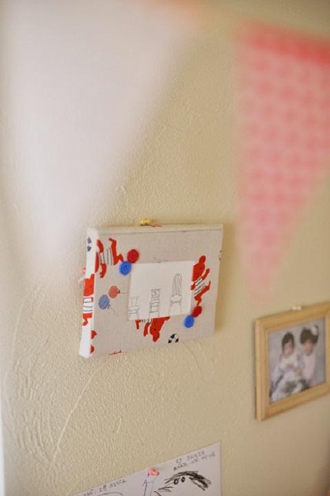 マンションリノベーション、夢工房、子ども部屋、ディスプレイ、思い出の写真