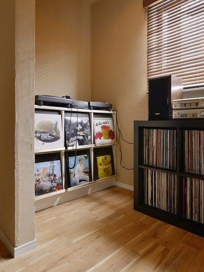 戸建リノベーション、夢工房、DJブース、趣味部屋、音楽が楽しめる、自然素材、珪藻土