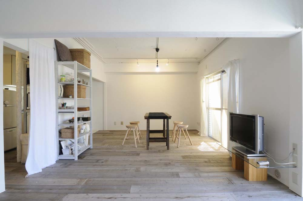 スタイル工房、リノベーション、リビング、古材、杉