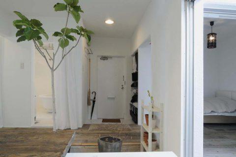 スタイル工房、リノベーション、玄関、古材