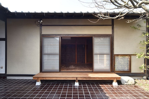 戸建てリノベーション、リクラフト、縁側、中庭、平屋