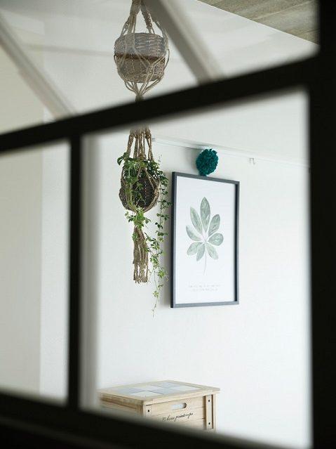 マンションリノベーション、インテリックス空間設計、北欧、室内窓、アート飾る