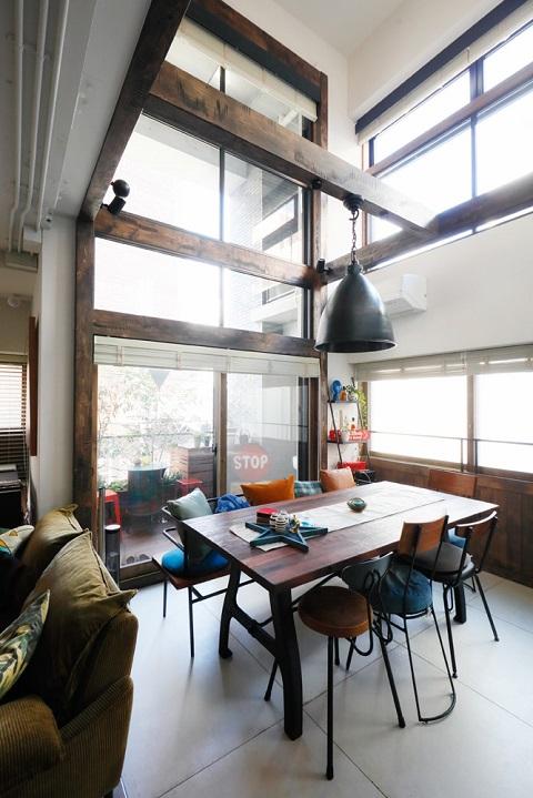 マンションリノベーション、三井のリフォーム、メゾネット、吹き抜け、飾り梁