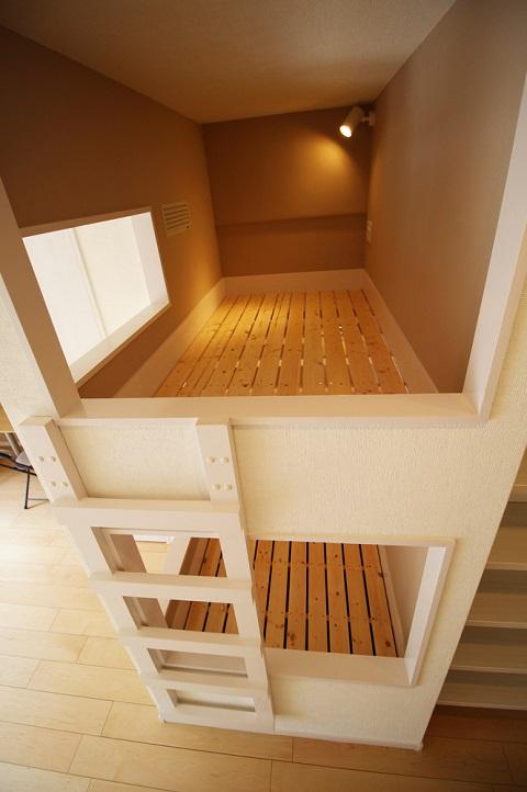 リノベーション東京、マンションリノベーション、2段ベッド、すのこベッド、キッズスペース