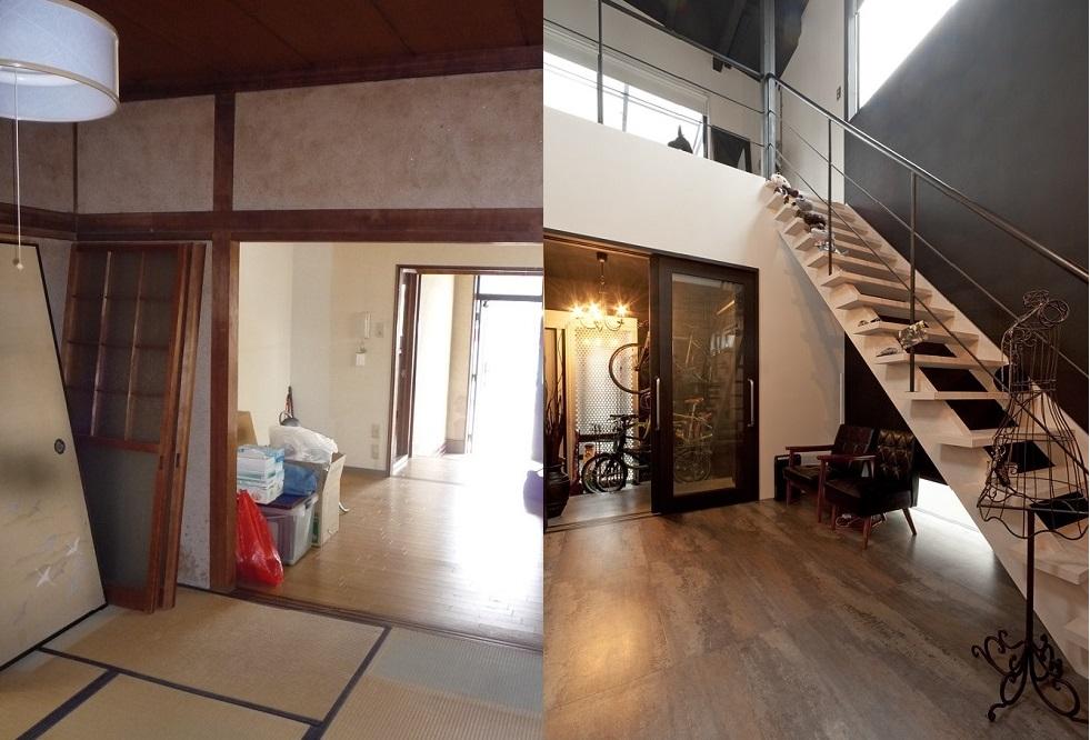 「リノベの最新情報」の「ここまで変わる!リノベーションのビフォー&アフター。築45年の木造住宅がまるでRC構造のような住宅に!」