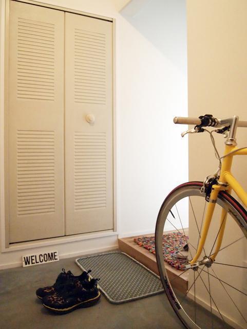 リノベーション、団地リノベーション、株式会社錬、錬、れん、玄関、玄関収納、自転車