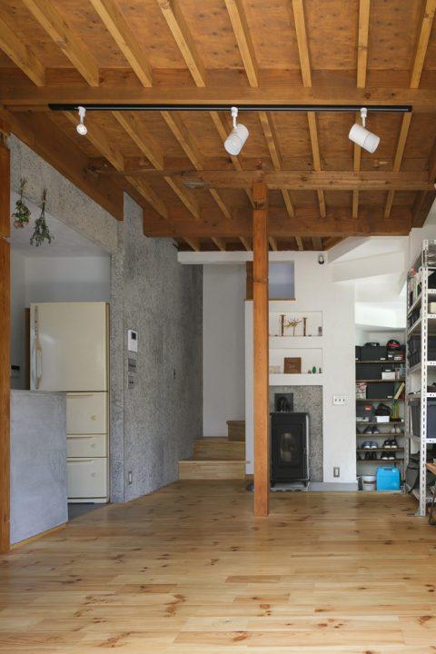 戸建てリノベ、スタイル工房、リノベーション、レペットストーブ、土間、開口部、リビング