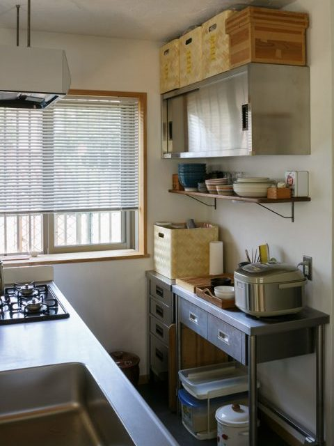 戸建てリノベ、スタイル工房、リノベーション、背面収納、業務用、シンプルなキッチン、対面キッチン、キッチンカウンター