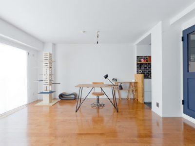 「スクールバス空間設計」のマンションリノベーション事例「猫と私の、ほのぼのマンションリノベーション」