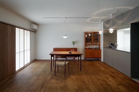 団地リノベーション、デザインライフ設計室、北欧家具、北欧照明、和モダン