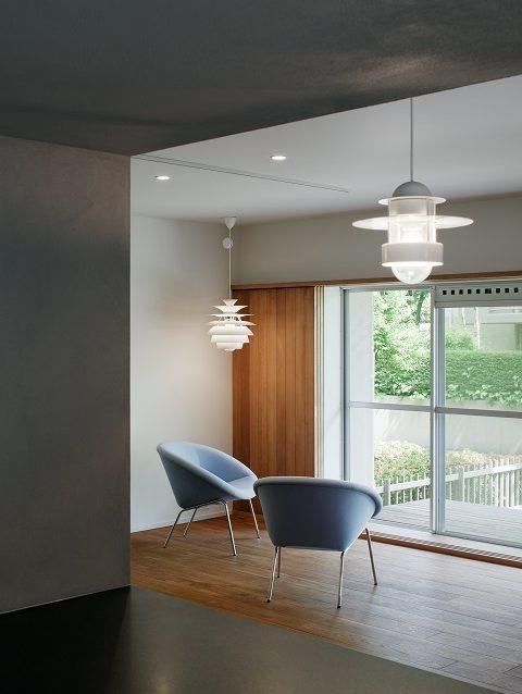 団地リノベーション、デザインライフ設計室、北欧インテリア、団地1階、専用庭