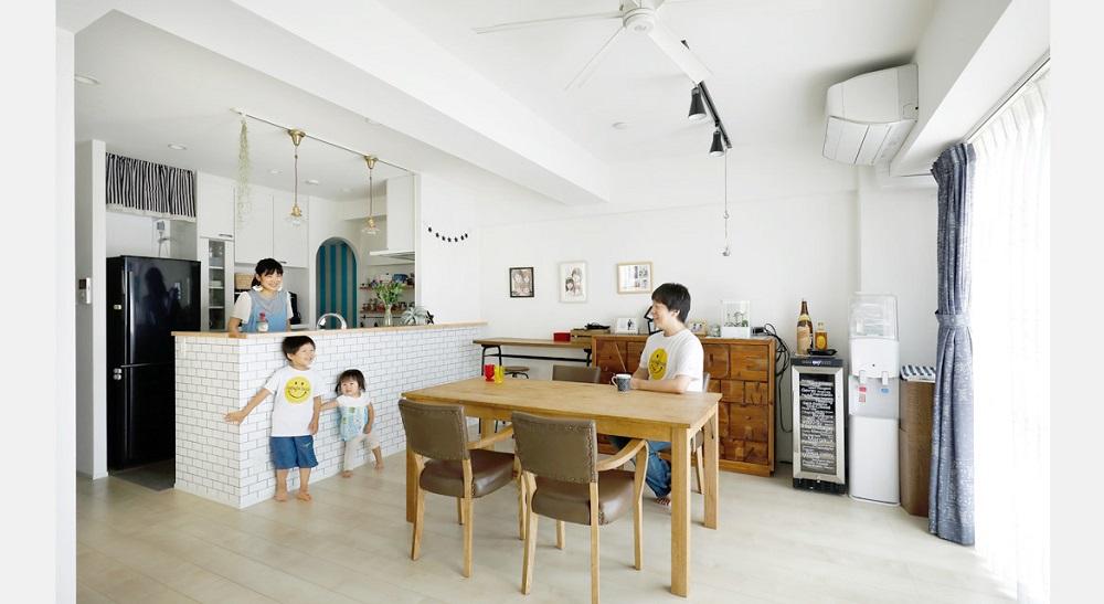 「インテリックス空間設計」のリノベーション事例「家族の暮らしやすさにこだわった、シンプルリノベーション。」