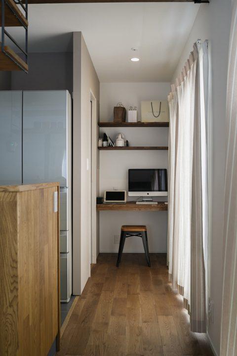 スタイル工房、戸建リノベ、書斎、スタディスペース、室内干しフック、