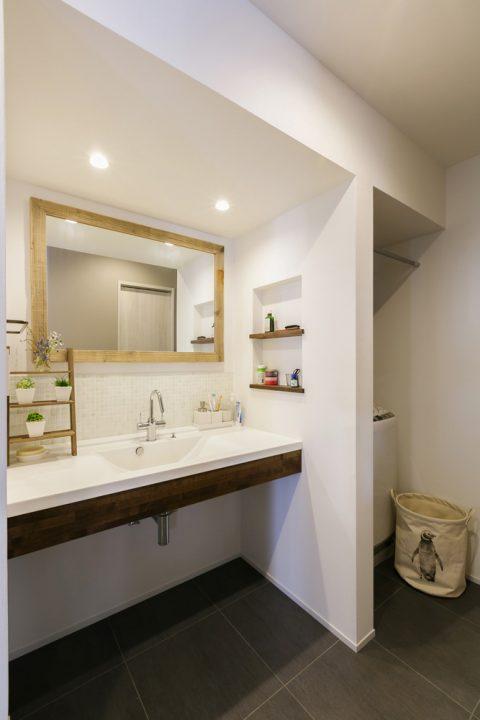 スタイル工房、戸建リノベ、対面キッチン、キッチンカウンター、洗面スペース、洗面カウンター、水まわり、