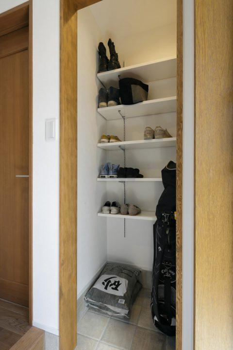 スタイル工房、戸建リノベ、シュークローク、玄関収納、シューズクローゼット