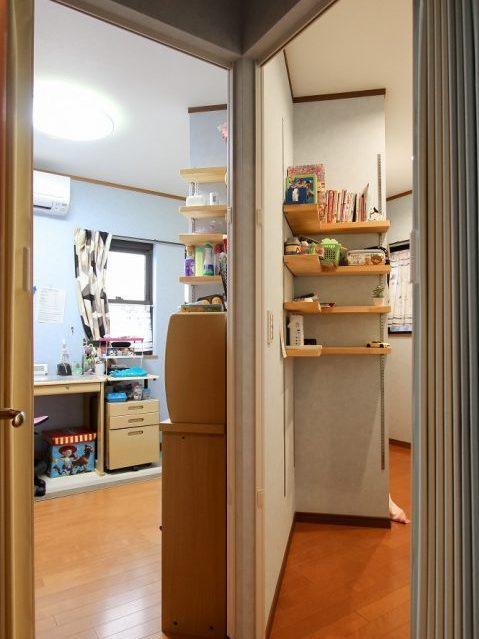 戸建てリノベーション、住工房株式会社、2段ベッド間仕切り、子ども部屋収納、オープン収納